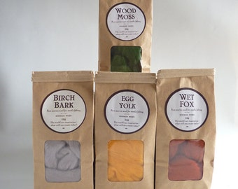 Merino wool roving, pick your own  four bag bundle, 25g (1oz)  bags, needle felting wool