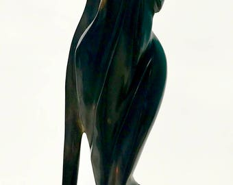 Black Woman Ebony Wood Sculpture