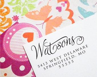Return Address Stamp, Address Stamp, Custom Return Address Stamp, Wedding Invitation Stamp, Return Address Stamp Self Ink (T55)