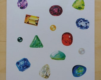 Gemstone group greetings card