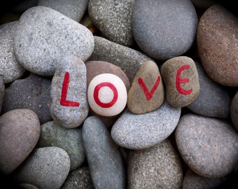 Love Rocks Original Art Print