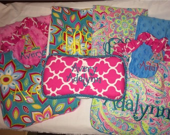Personalized Twin Bundle!!! Made to order! You pick the fabric!!!