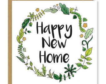 Congrats new home etsy new home card floral happy new home greetings card m4hsunfo Gallery