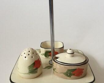 Art Deco Bursley Ware Cruet / Condiment Set