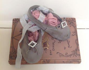 Sweet Vintage Childs Ballet Shoes