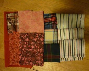 set of 37 patchwork fabrics coupons