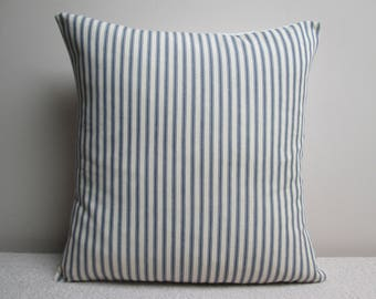 """Handmade Shabby Chic French Ticking  Cushion Cover Pillow Cover  16"""""""