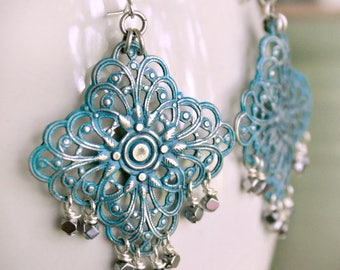 Filigree Earrings, Dangle Earrings, Gift For Her, Gift For Girlfriend, Wife Gift