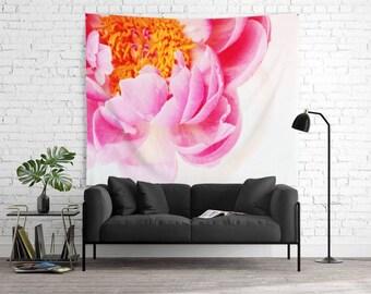 Millennial Pink Peony Backdrop - Baby Nursery Decor - Little Girl's Room - 68x80 - Floral Photography - Gardener's Dream Decor