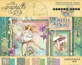 ON SALE Graphic 45 Fairy Dust 8x8 Paper Pad