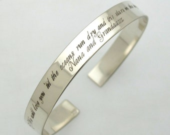 Graduation Gift - Engraved Cuff Bracelet - Personalized Bracelet - Custom Bracelet - Gift for Her - Birthday Gift - 2 sides engraving cuff
