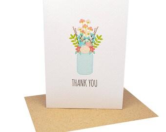 Floral Thank You Card | Floral Arrangement | Wedding Thank You Card | Thank You Greeting Card Thank You | Floral Card Thank You | THY027