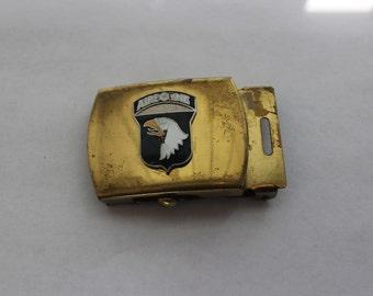 Belt Buckle Airborne Brass Belt Buckle Vintage