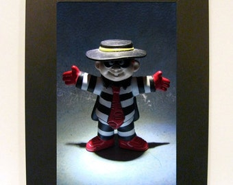 "Framed Hamburglar Toy Photograph 5x7"" McDonald's Fast Food"