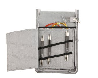 Deluxe Interchangeable Needle Set (colour coded cables)- 7 Knitting Needle Tips (KnitPro: Karbonz)