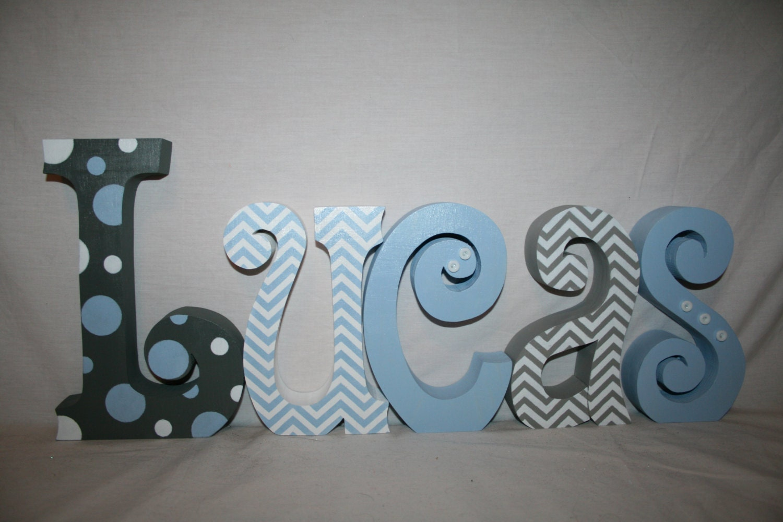 Letras de madera letras infantiles letras de madera para - Letras de madera para decorar ...