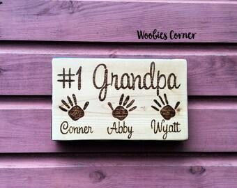 Gift for Grandpa, Custom Fathers Day gift , WOOD BURNED sign, Grandpa signs, Signs for Grandpa, Fathers Day gift, #1 Grandpa