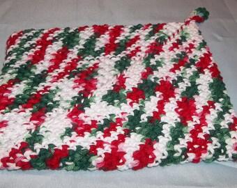 Crochet pot holder
