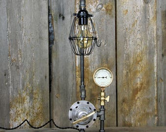 Industrial Desk Lamp - Steampunk Table Lamp - #128