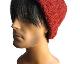 Knit Hat, Watchman Cap Slouchy Hat, Vegan Knits, The Alex Hat, Mens Fisherman Hat, Mens Slouchy Beanie, Mens Knit Hat
