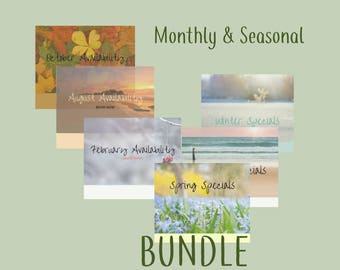 Monthly & Seasonal Bundle : massage, spa, refelxology, Reiki, social media, facebook, Instagram