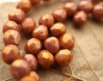 last ones..Luster Topaz, 5mm Beads, Czech Beads, Beads