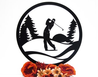 Golfer Metal Wall Decor | Gift For Him | Golf Gift | Golfer Gift | Wall Hanging | Outdoor | Sign | Wall Art | Fathers Day Gift