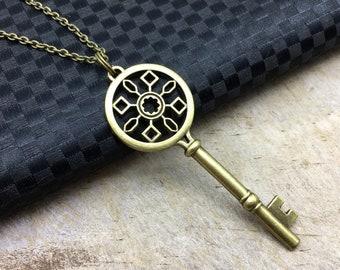 ANTIQUE KEY Necklace Antique Key Jewelry Antique Key Gift Key Jewelry Key Necklace Key Gift Bronze Key Charm Antique Key Pendant Big Key