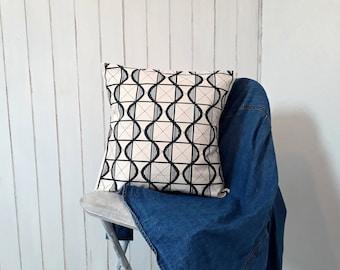 grey cotton cushion / cushion cover uk / scatter cushion / hand printed cushion cover / pillow / handmade cushion / throw pillow
