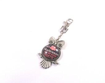 personalized OWL keychain