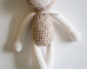 Crochet Lamb Sheep Stuffed Animal Toy Large