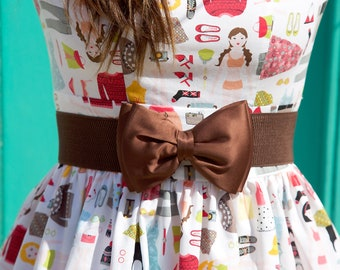 Chocolate Brown Bow Belt, Brown Bow Belt, Bow Belt, Brown Belt, Chocolate Belt, Satin Belt, Waist Belt, Ladies Belt, Elastic Belt, Belt