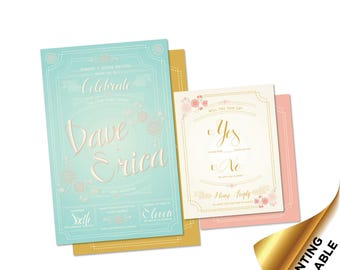 Celebrate - Custom Wedding Invitation & RSVP Printable