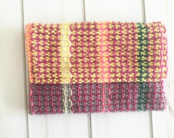 Essential Oil Travel Case - Essential Oil Storage - EO Bag Pouch - Loom Woven - Handwoven - Handmade - Roll On Holder - Organic Cotton