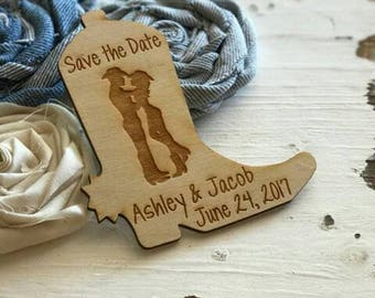 Wedding Favor Magnets, Western Wedding Favor, Cowboy Boot, Cowboy and Cowgirl, Bride, Groom, Gift