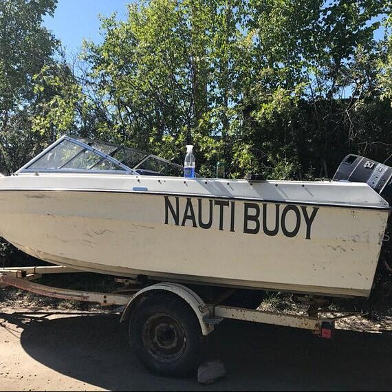 Custom Boat Name Decals For Your Watercraft Pontoon Fishing Cutti Jet Ski Anniversary Gift Husband Personalized Monogram