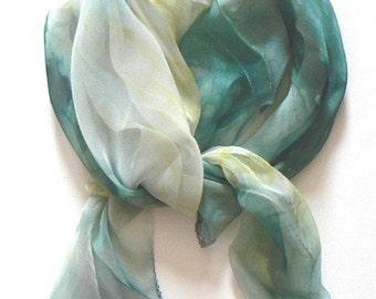 Hand Dye Silk Scarf