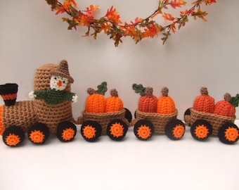 CROCHET PATTERN - Pumpkin Train- CV134 Pumpkin Express - PDF Download