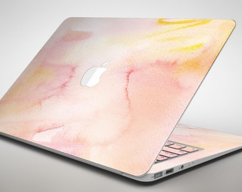 Peach Absorbed Watercolor Texture - Apple MacBook Air or Pro Skin Decal Kit (All Versions Available)