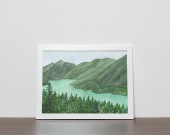 Diablo Lake Original Watercolor