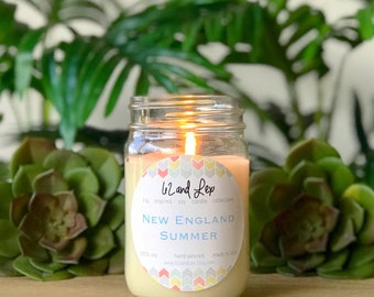 New England Summer Soy Candle/Candle/Soy Candle/New England Gift