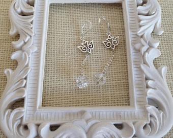 Peace dove, Angel Dove Dangle Earrings by K'nique Jewelry