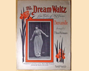 The Dream Waltz - from Tales of Hoffman - Original Large Format 1914 Antique/ Vintage Sheet Music