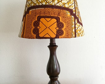 African print lamp etsy ankara kitenge african wax print accent lamp shade for table lamp african decor mozeypictures Gallery