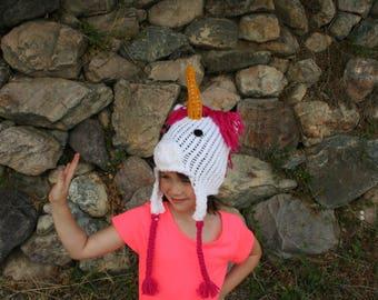 Unicorn Ear-flap Beanie
