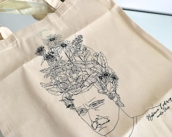 "Limited edition floral tote bag ""Still Growing"""
