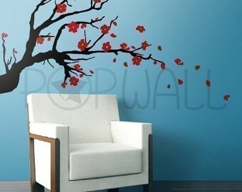 Vinyl Wall Sticker Wall Decals Tree Decal - Cherry Blossom Branch - Popwall design - 005
