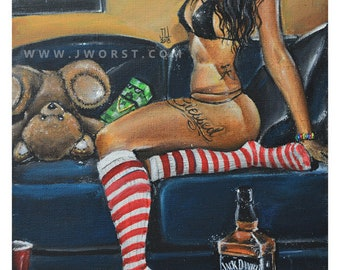 JEREMY WORST Blessed Jack Daniels Original Artwork Signed Print