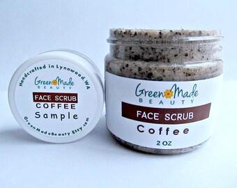 Coffee FACE SCRUB/Facial cleanser/ Sugar scrub/ Face exfoliator
