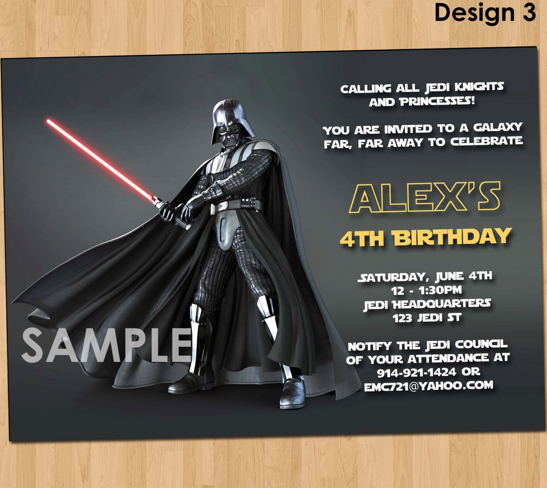 Star Wars Birthday Party Evite